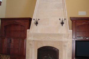 Overmantel Tapered w Summit and raised hearth