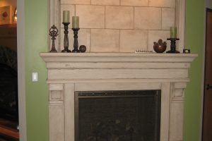Pinnacle with overmantel