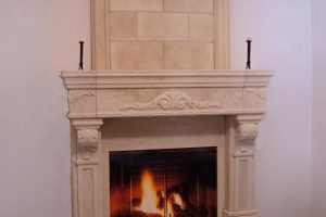 overmantel with Summit