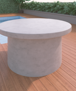 Overhang Cylinder Table