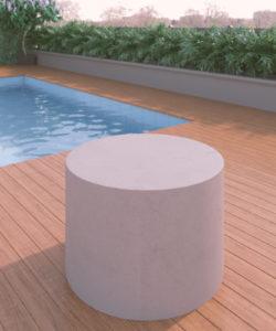 Round Block Table